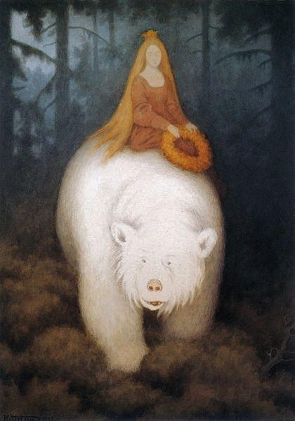 Теодор Киттельсен/Theodor Kittelsen «Белый медведь-король Валемон», 1912