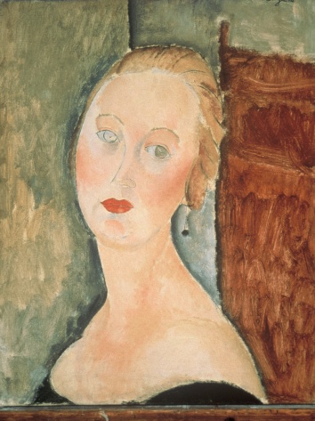 "Modigliani's ""Germaine Survage with Earrings"" (1918) Image: ateneum.fi"